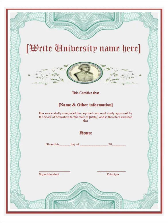 degree certificate template - Onwebioinnovate