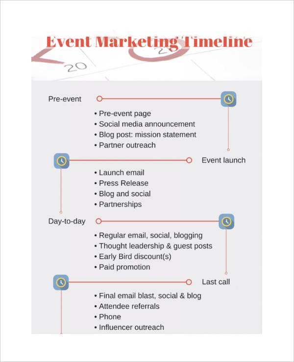 7+ Marketing Timeline Templates u2013 Free Sample, Example, Format - event timeline sample