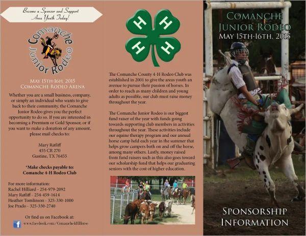sponsorship brochure template