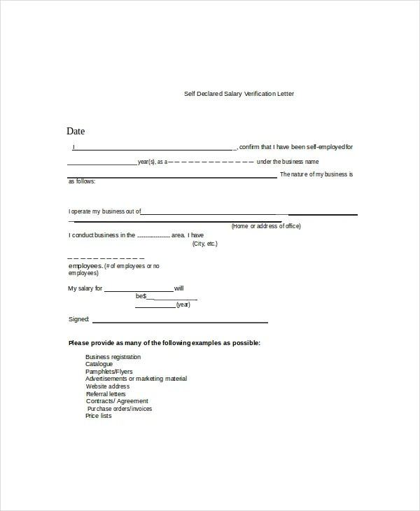 10+ Employment Verification Letter Templates - Free Sample, Example - previous employment verification letter