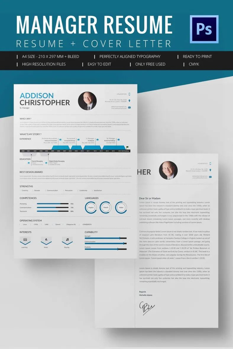 resume word template modern