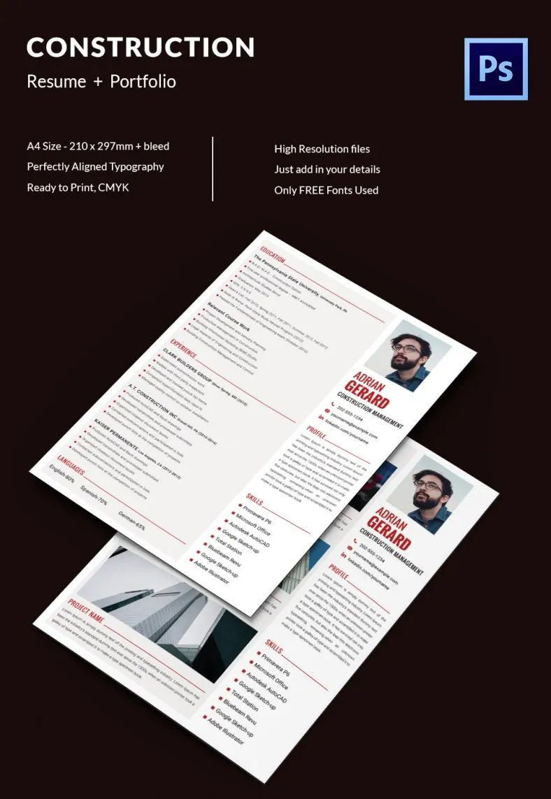 resume template download pdf