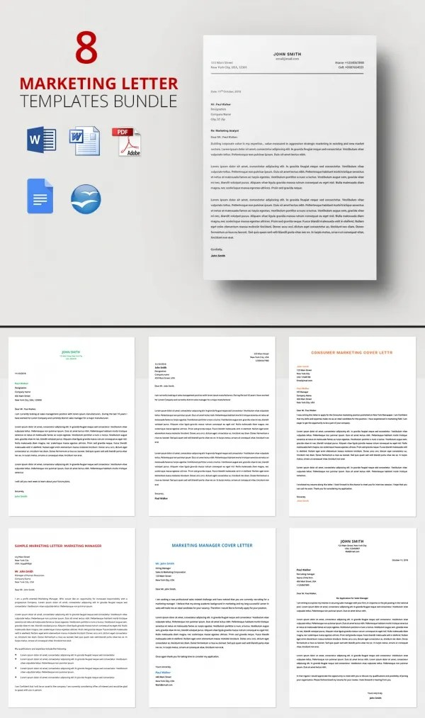 Marketing Letter Template - 38+ Free Word, Excel PDF Documents
