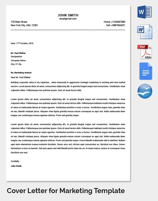 Marketing Letter Template - 38+ Free Word, Excel PDF Documents - letter writing template