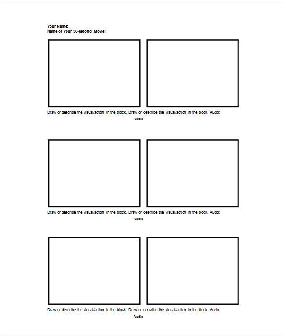 75+ Storyboard Templates - PDF, PPT, DOC, PSD Free  Premium Templates - free storyboard templates