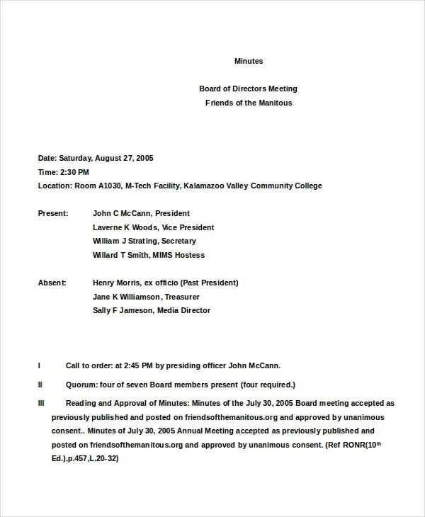 s corp meeting minutes template template