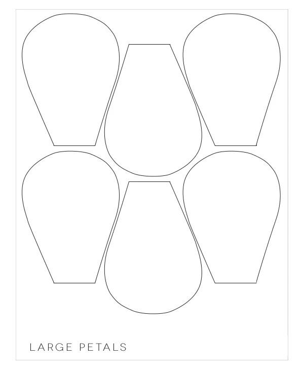 20+ Flower Petal Templates - PDF, Vector EPS Free  Premium Templates - flower petal template