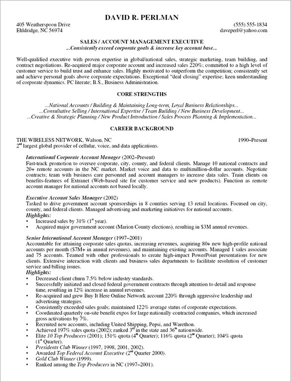 Manager Resume Template \u2013 15+ Free Samples, Examples, Format - sample account management resume