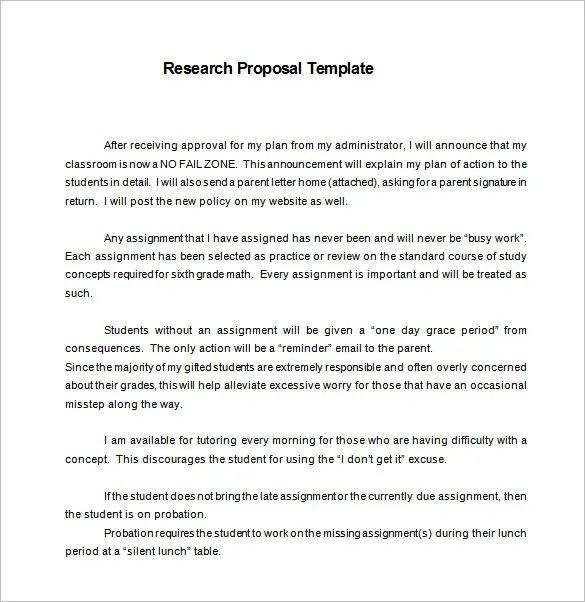 13+ Research Proposal Templates - DOC, PDF, Excel Free  Premium