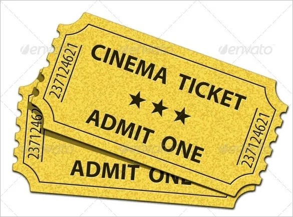 Ticket Template u2013 97+ Free Word, Excel, PDF, PSD, EPS Formats - admit one ticket template