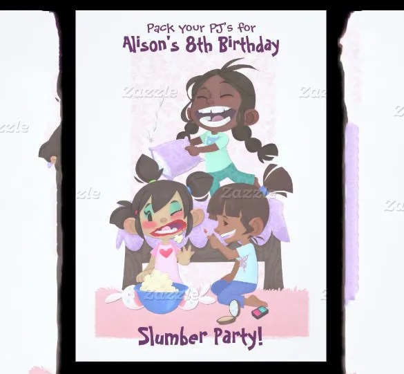 13+ Creative Slumber Party Invitation Templates - PSD, AI, EPS