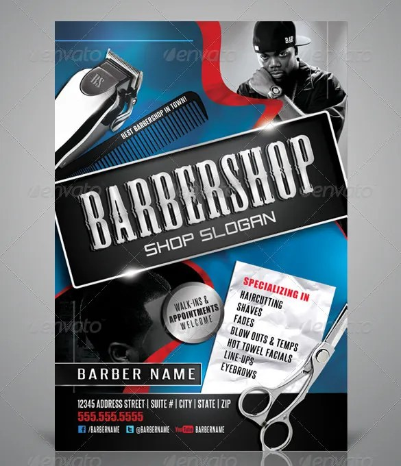20+ Best Barbershop Flyer Template  Design Free  Premium Templates - design a flyer free