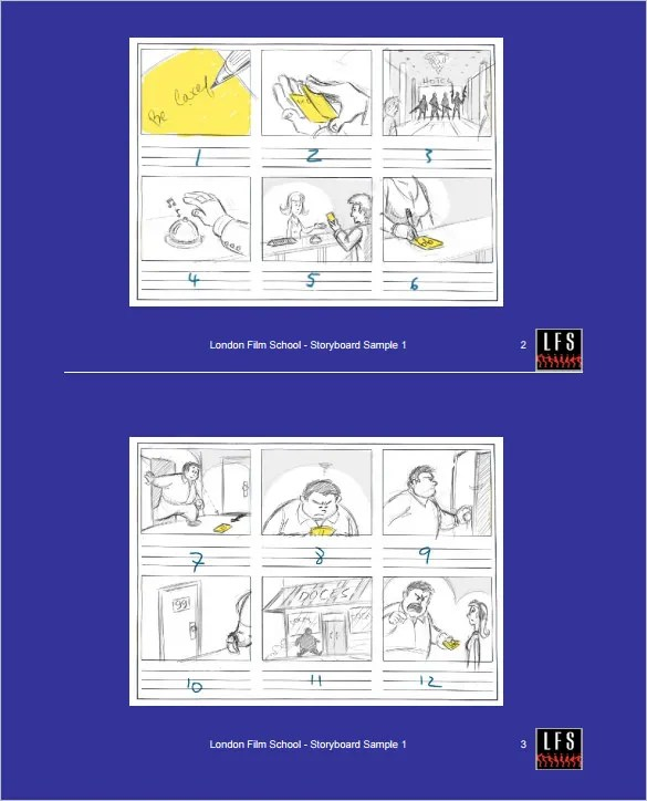 Storyboard Template - 85+ Free Word, PDF, PPT, PSD Format Free - sample video storyboard template