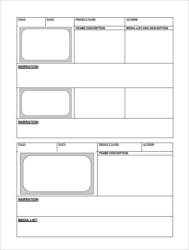 82+ Storyboard Templates - PDF, PPT, DOC, PSD Free  Premium Templates
