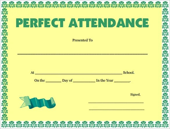 21+ Attendance Certificate Templates - DOC, PDF, PSD Free