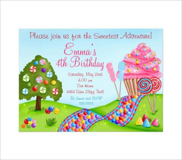 14+ Wonderful Candyland Invitation Templates Free  Premium Templates - free invitation layouts