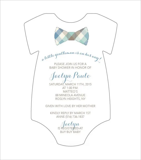 Onesie Template u2013 21+ Free PSD, PDF Format Download Free - baby shower invitations for word templates