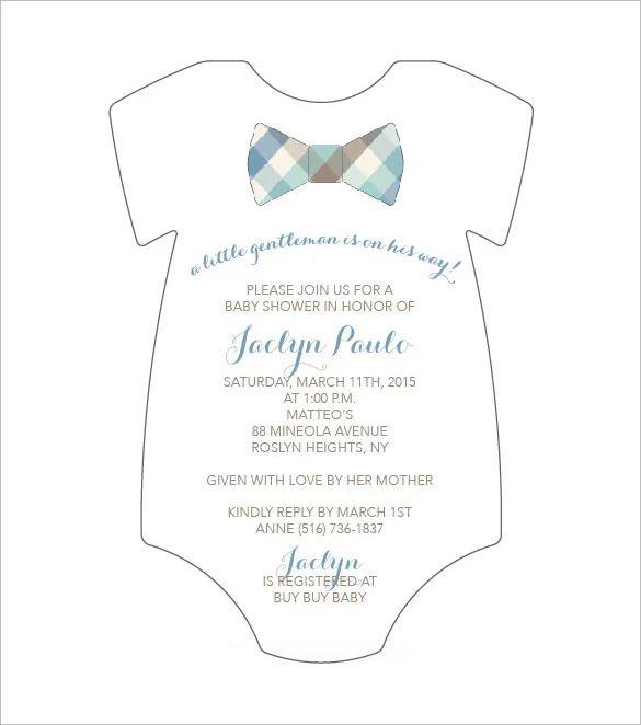 onesie invitation template