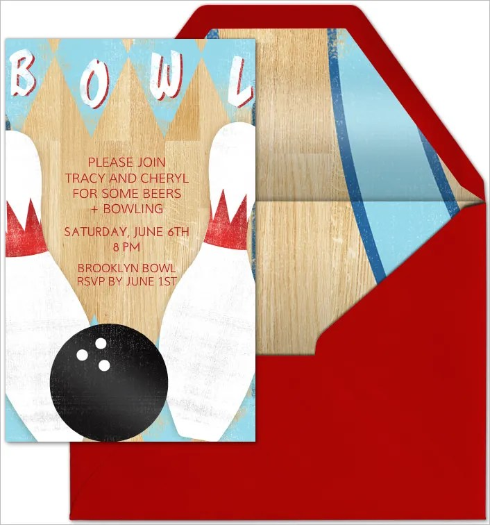 25+ Outstanding Bowling Invitation Templates  Designs! Free - bowling invitation template