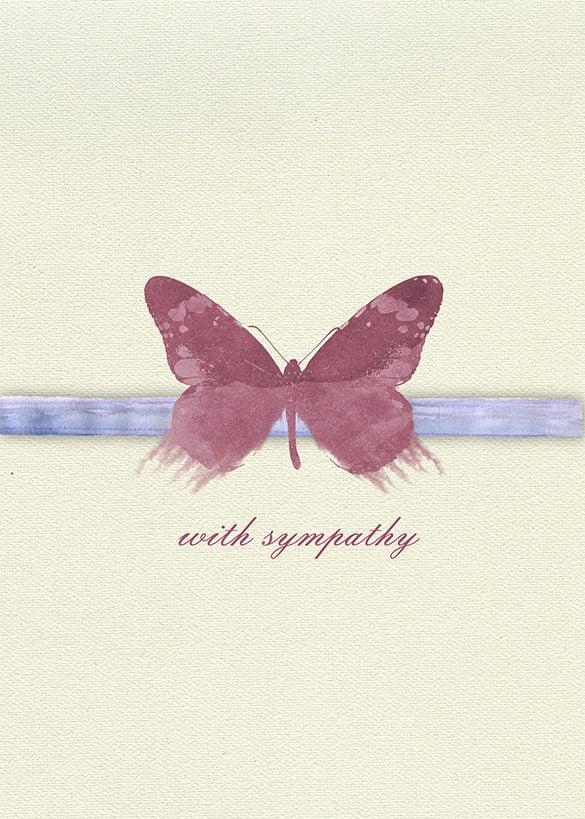 Sympathy Card Template - 12+ Free Printable Word, PDF, PSD, EPS