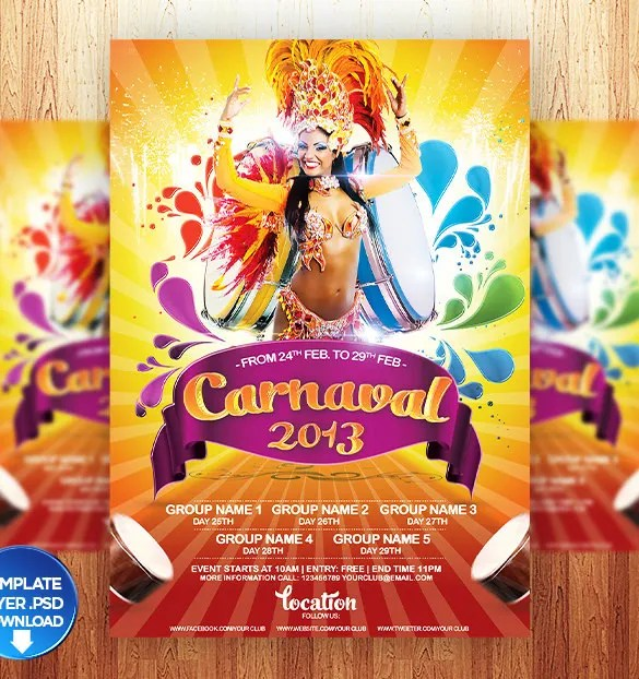 Carnival Flyer Template - 49+ Free PSD, AI, Vector EPS Format
