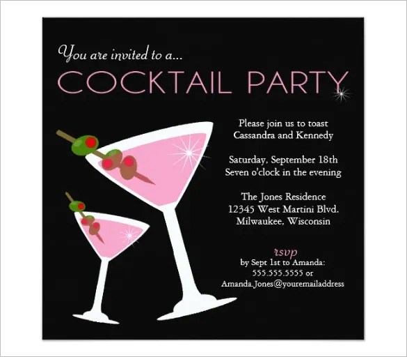 17+ Stunning Cocktail Party Invitation Templates amp; Designs