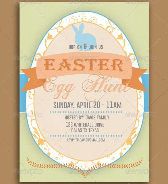 32+ Easter Invitation Templates \u2013 Free Sample, Example, Format