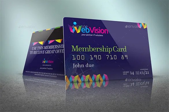 35+ Membership Card Designs  Templates Free  Premium Templates - membership cards templates