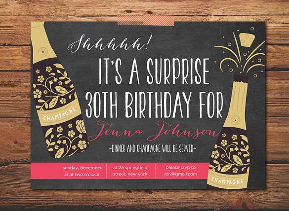 17+ Outstanding Surprise Party Invitations  Designs! Free - evites invitation maker