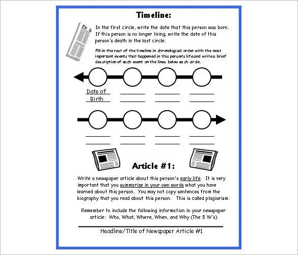 6+ Biography Timeline Templates u2013 Free Word, Excel Format Download - career timeline template