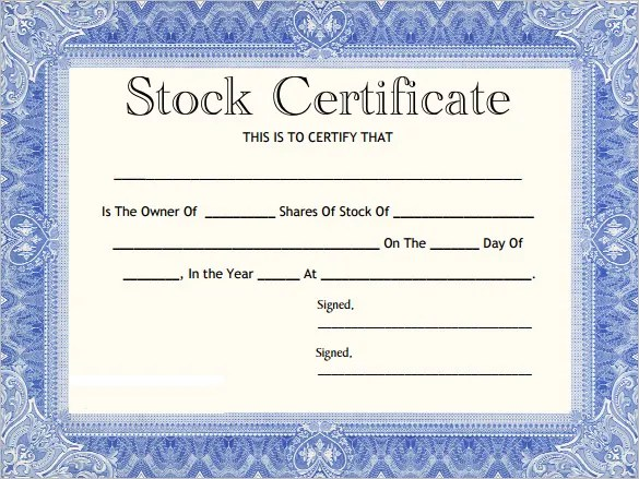 21+ Share Stock Certificate Templates - PSD, Vector EPS Free