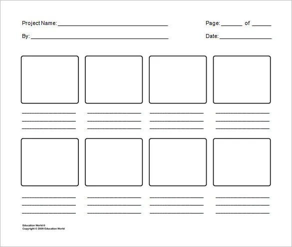 Storyboard Template - 85+ Free Word, PDF, PPT, PSD Format Free