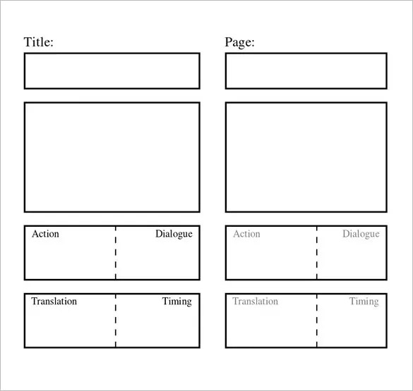 Word Script Template - video storyboard template