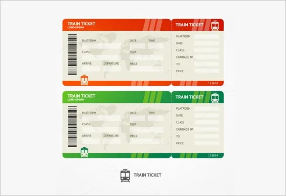 115+ Ticket Templates - Word, Excel, PDF, PSD, EPS Free  Premium