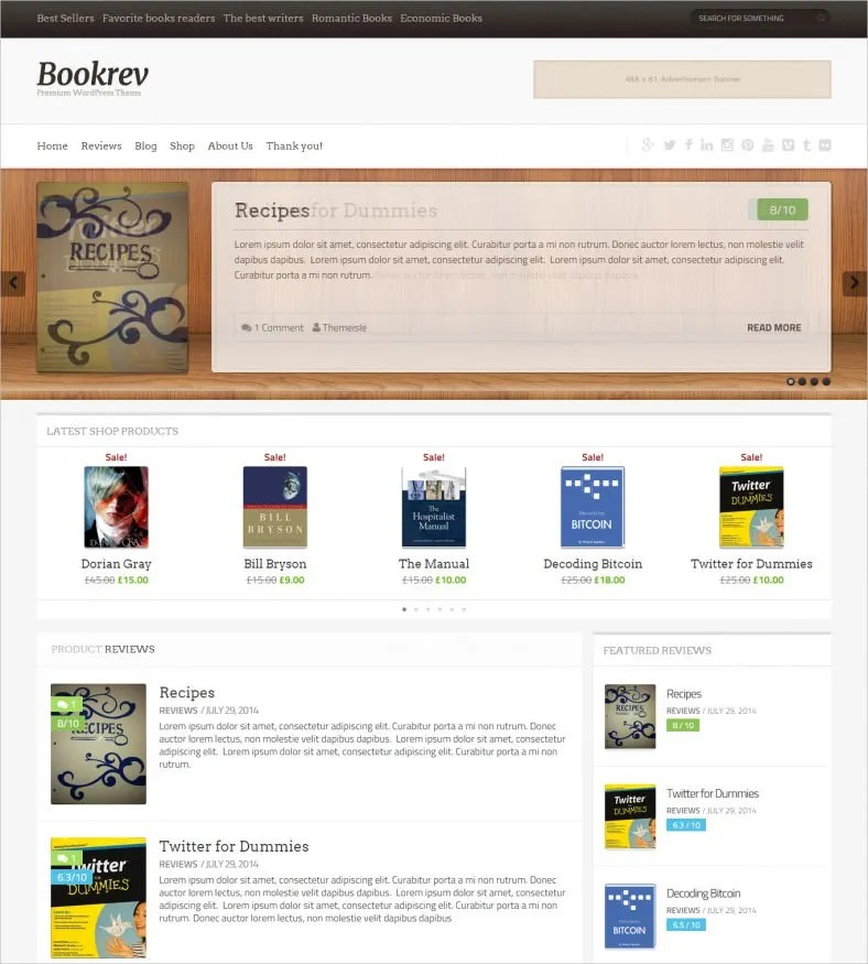 10+ Book Review WordPress Themes  Templates Free  Premium Templates - book reviews template