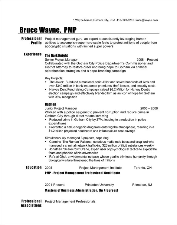 Manager Resume Template \u2013 15+ Free Samples, Examples, Format