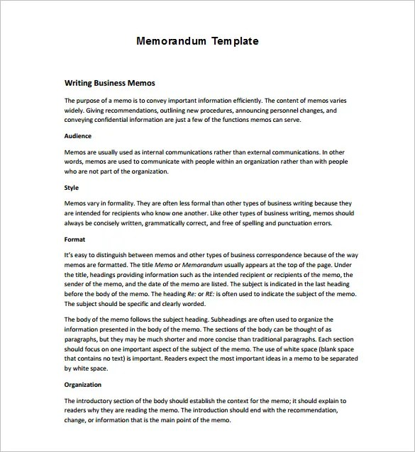 Free Memo Template Download – Confidential Memo Template