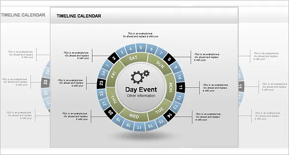 Powerpoint Calendar Timeline Template Images  Powerpoint Template