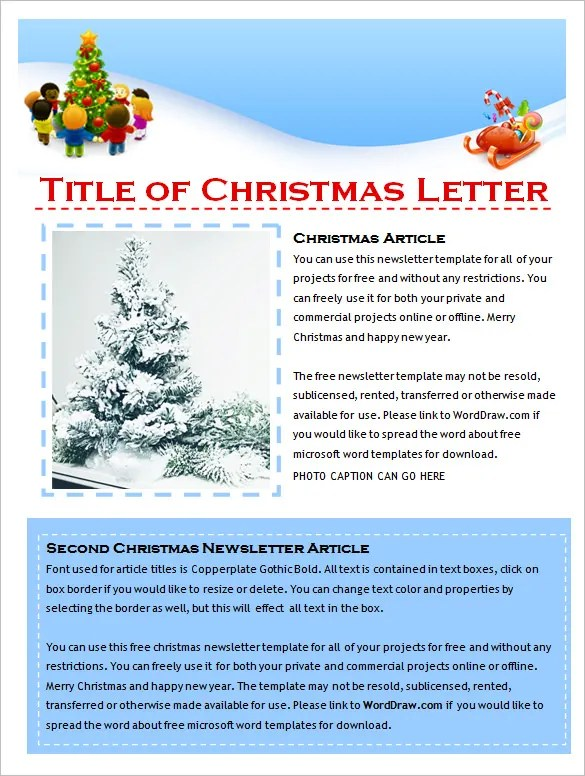 9+ Holiday Newsletter Templates \u2013 Free Word Documents Download