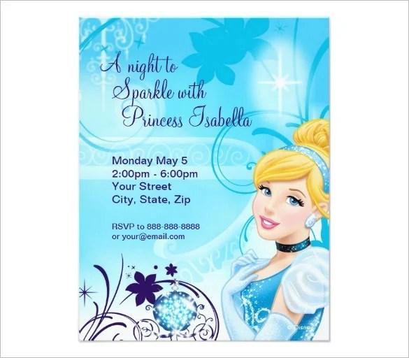 13+ Amazing Cinderella Invitation Templates  Designs! Free - printable girl birthday invitation cards