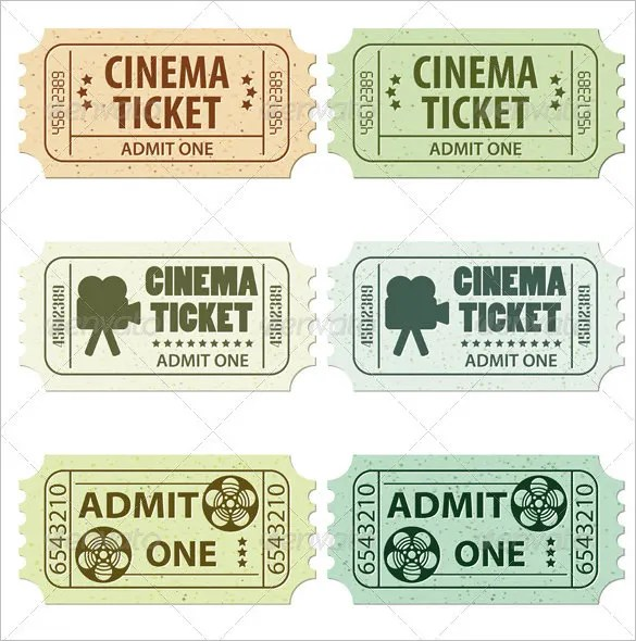 Ticket Templates u2013 98+ Free Word, Excel, PDF, PSD, EPS Formats - movie theater ticket template