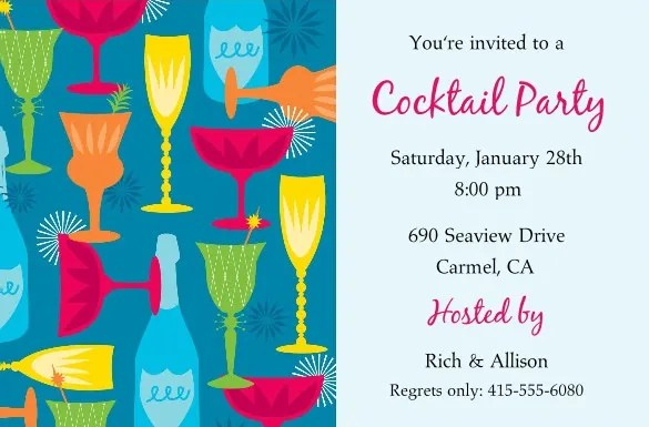 19+ Stunning Cocktail Party Invitation Templates  Designs! Free - invitation for cocktail party