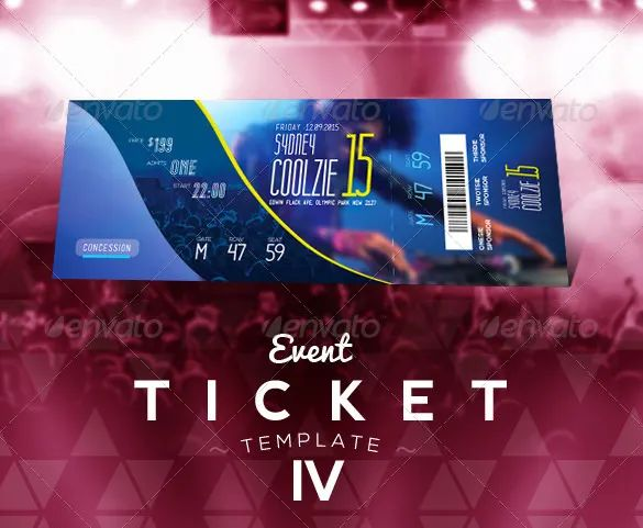 sample tickets template
