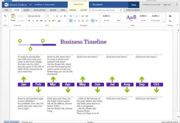 timeline format for word - Eczasolinf - timeline format for word
