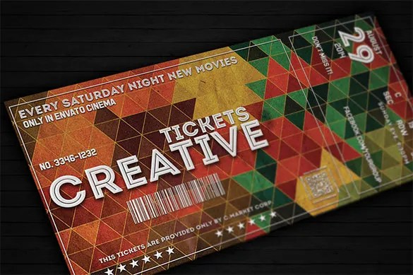 Concert Tickets Design  Concert Ticket Design