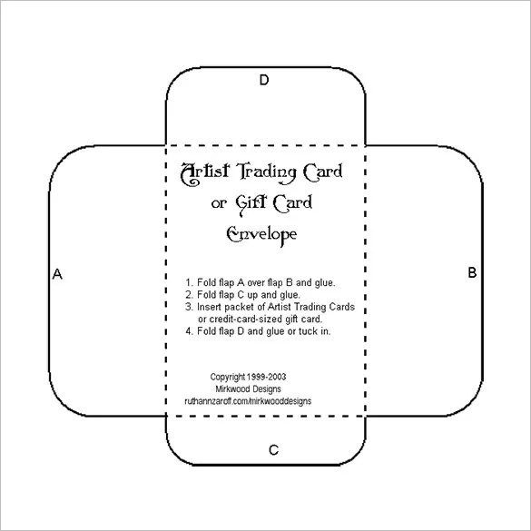 10+ Gift Card Envelope Templates - Free Printable Word, PDF, PSD - Small Envelope Template