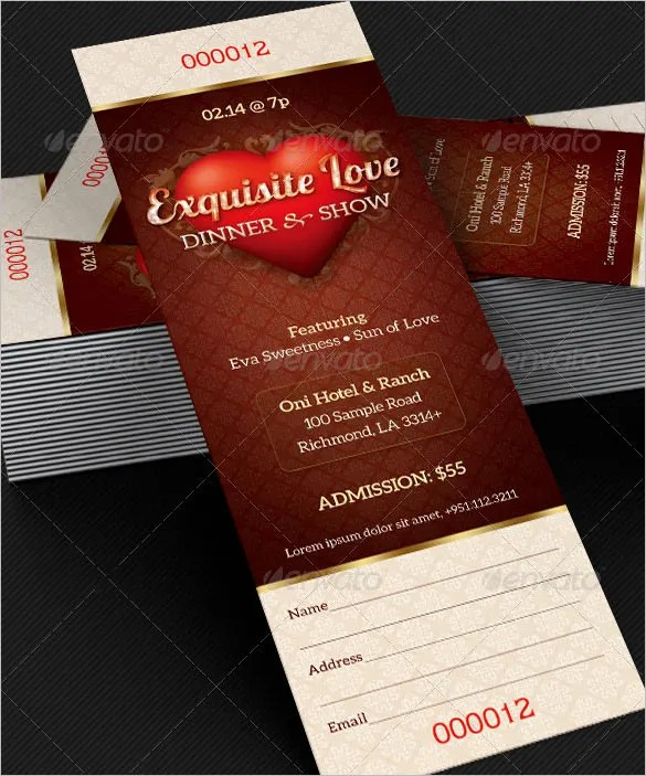 Ticket Templates \u2013 99+ Free Word, Excel, PDF, PSD, EPS Formats