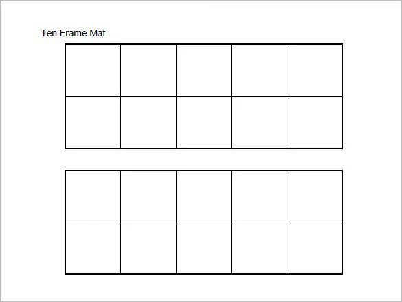 10 Frame Template Printable Erieairfair
