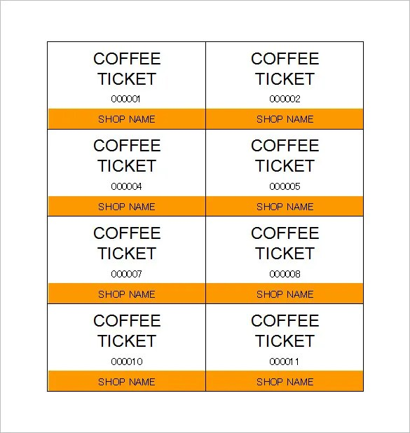 Ticket Templates \u2013 99+ Free Word, Excel, PDF, PSD, EPS Formats - Free Ticket Template Printable