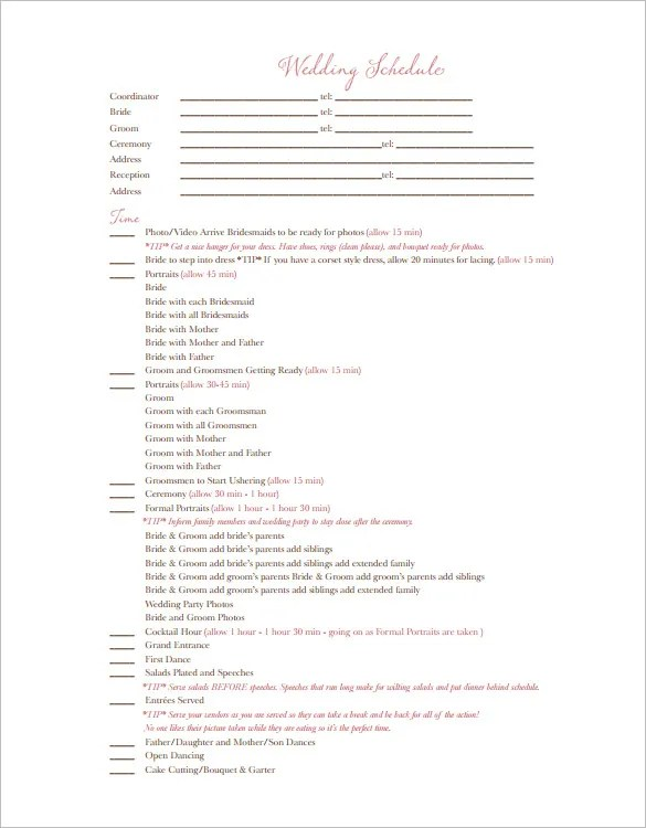 printable wedding itinerary template - Klisethegreaterchurch - wedding song list for dj template